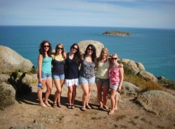 Our band of travellin' gals on Kangaroo Island in South Australia!